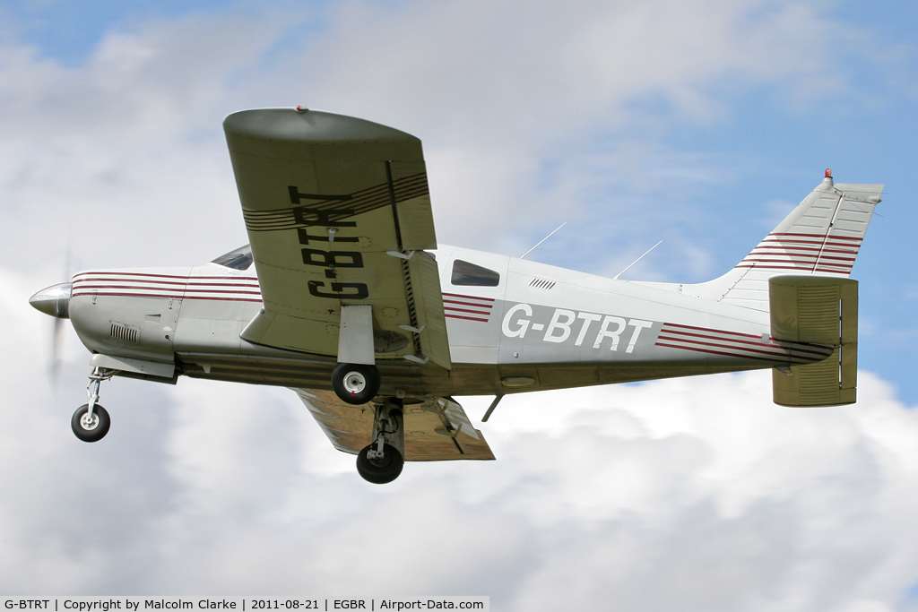 G-BTRT, 1975 Piper PA-28R-200 Cherokee Arrow C/N 28R-7535270, Piper PA-28R-200 Cherokee Arrow at Breighton Airfield's Summer Fly-In, August 2011.