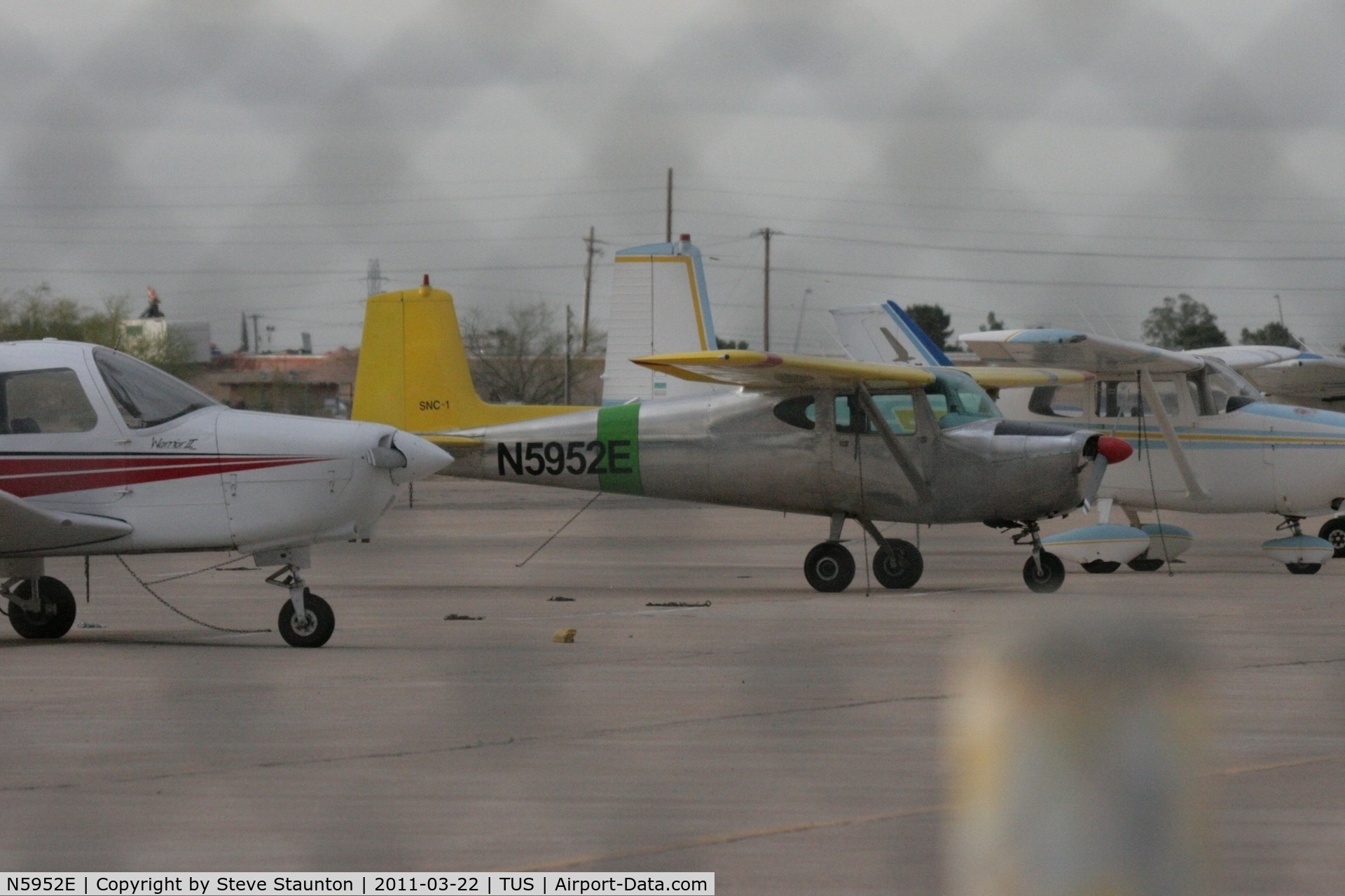 N5952E, 1959 Cessna 150 C/N 17452, Taken at Tucson International Airport, in March 2011 whilst on an Aeroprint Aviation tour