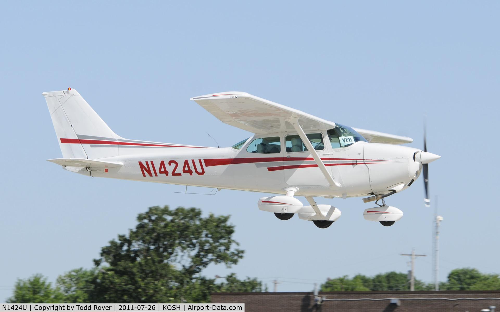 N1424U, 1976 Cessna 172M Skyhawk C/N 17267091, AIRVENTURE 2011