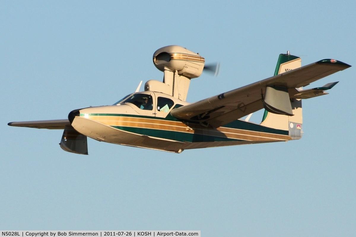 N5028L, 1971 Lake LA-4-200 Buccaneer C/N 485, Departing Airventure 2011.