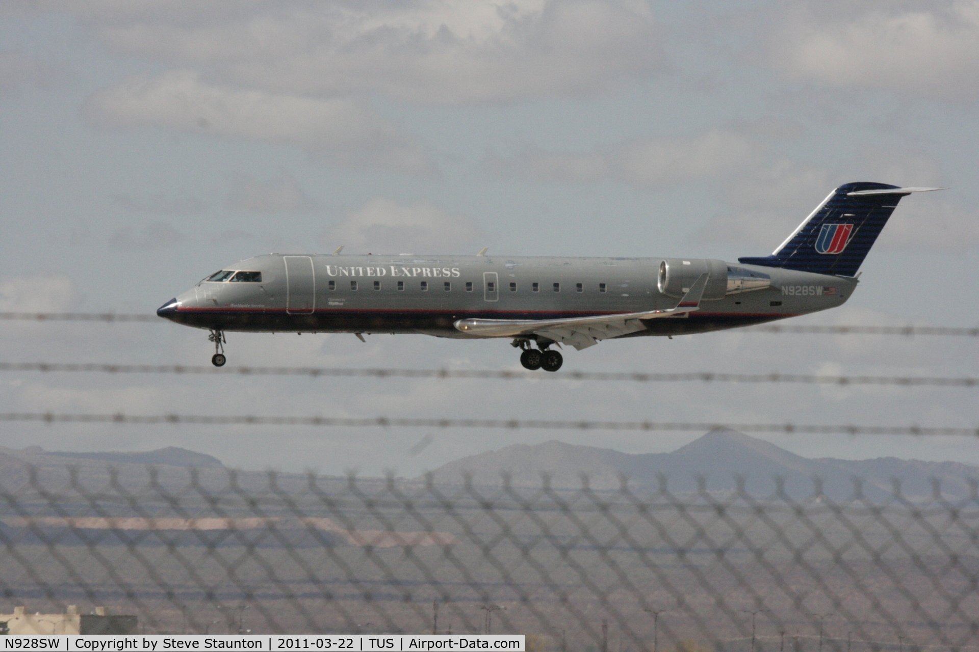 N928SW, 2002 Bombardier CRJ-200LR (CL-600-2B19) C/N 7701, Taken at Tucson International Airport, in March 2011 whilst on an Aeroprint Aviation tour