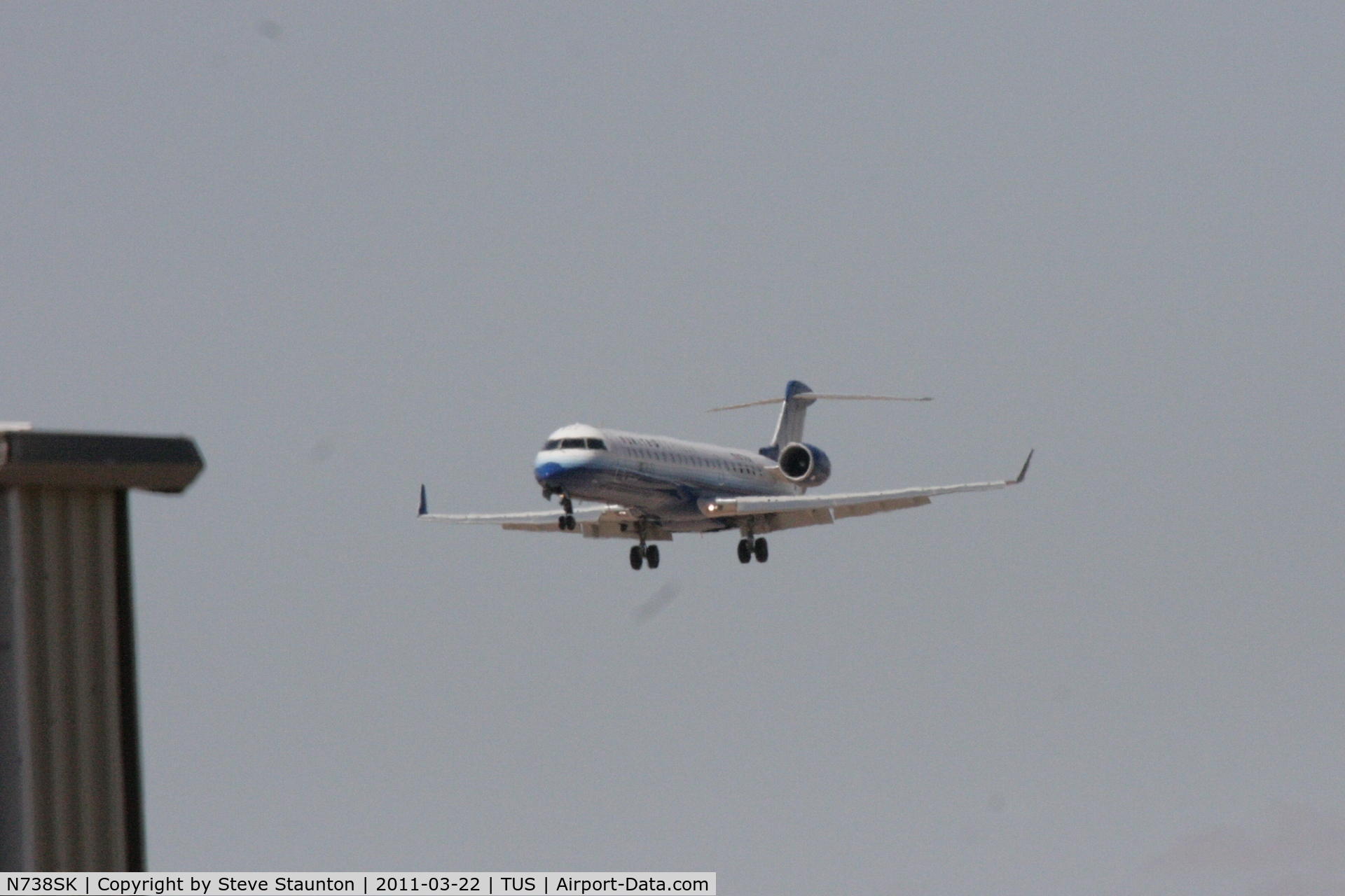 N738SK, 2005 Bombardier CRJ-700 (CL-600-2C10) Regional Jet C/N 10195, Taken at Tucson International Airport, in March 2011 whilst on an Aeroprint Aviation tour