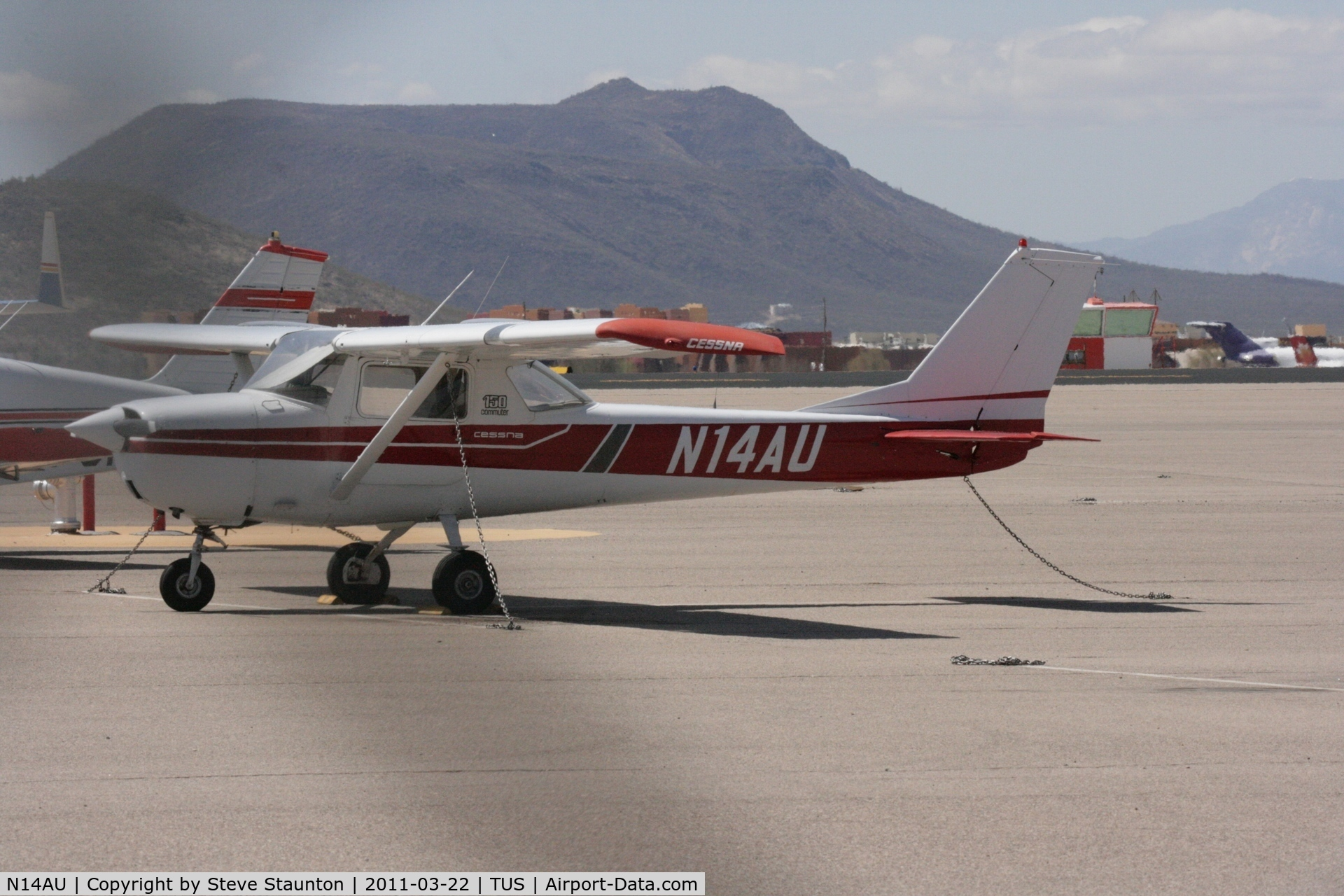 N14AU, 1967 Cessna 150G C/N 15064814, Taken at Tucson International Airport, in March 2011 whilst on an Aeroprint Aviation tour