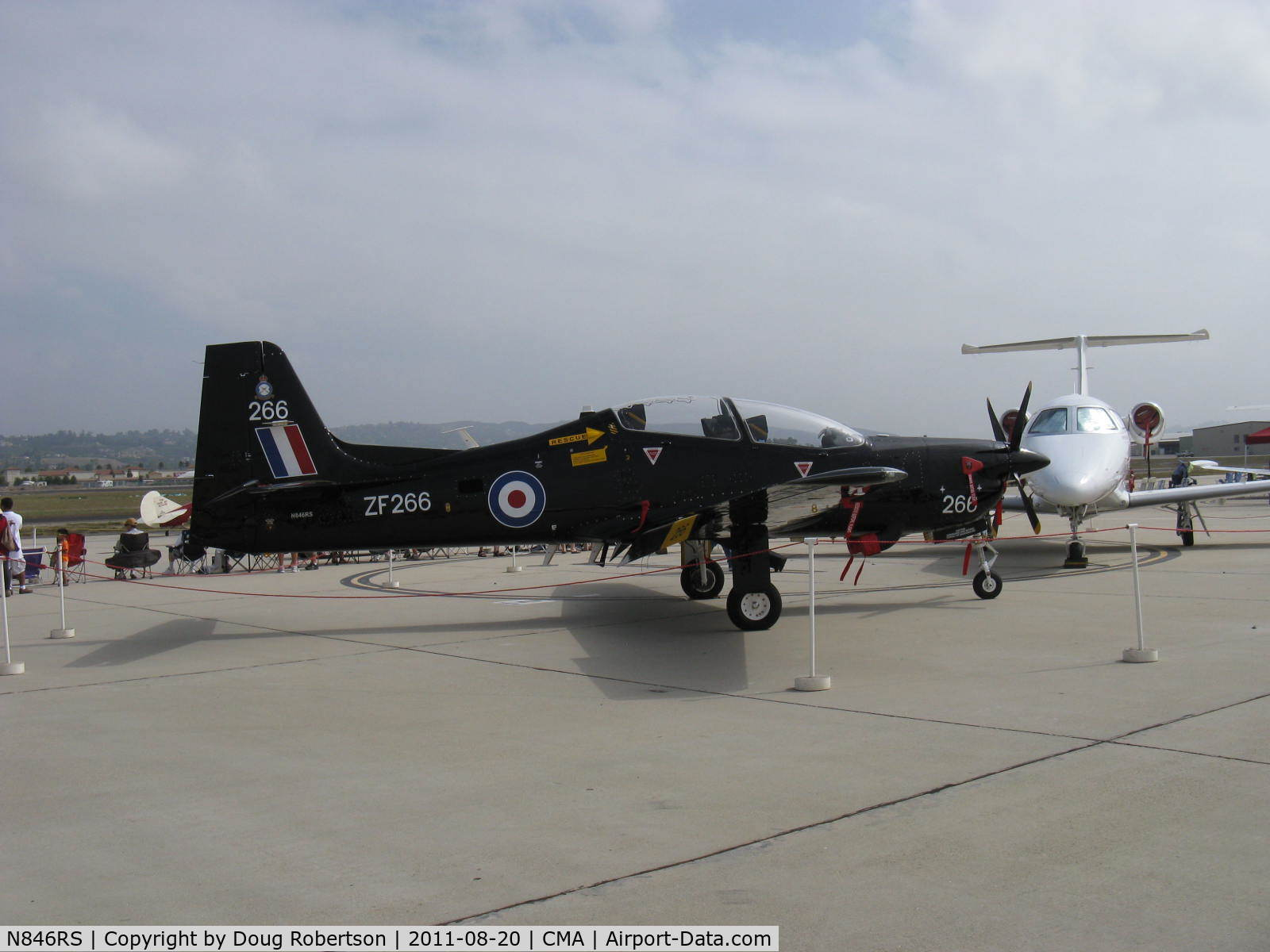 N846RS, 1990 Short S-312 Tucano T1 C/N S056/T50, Short Bros. PLC S312 TUCANO T1 Mk.1, one Garrett TPE331-12B Turboprop 1,100 shp in RAF livery, Martin-Baker MB 8LC Ejection Seats