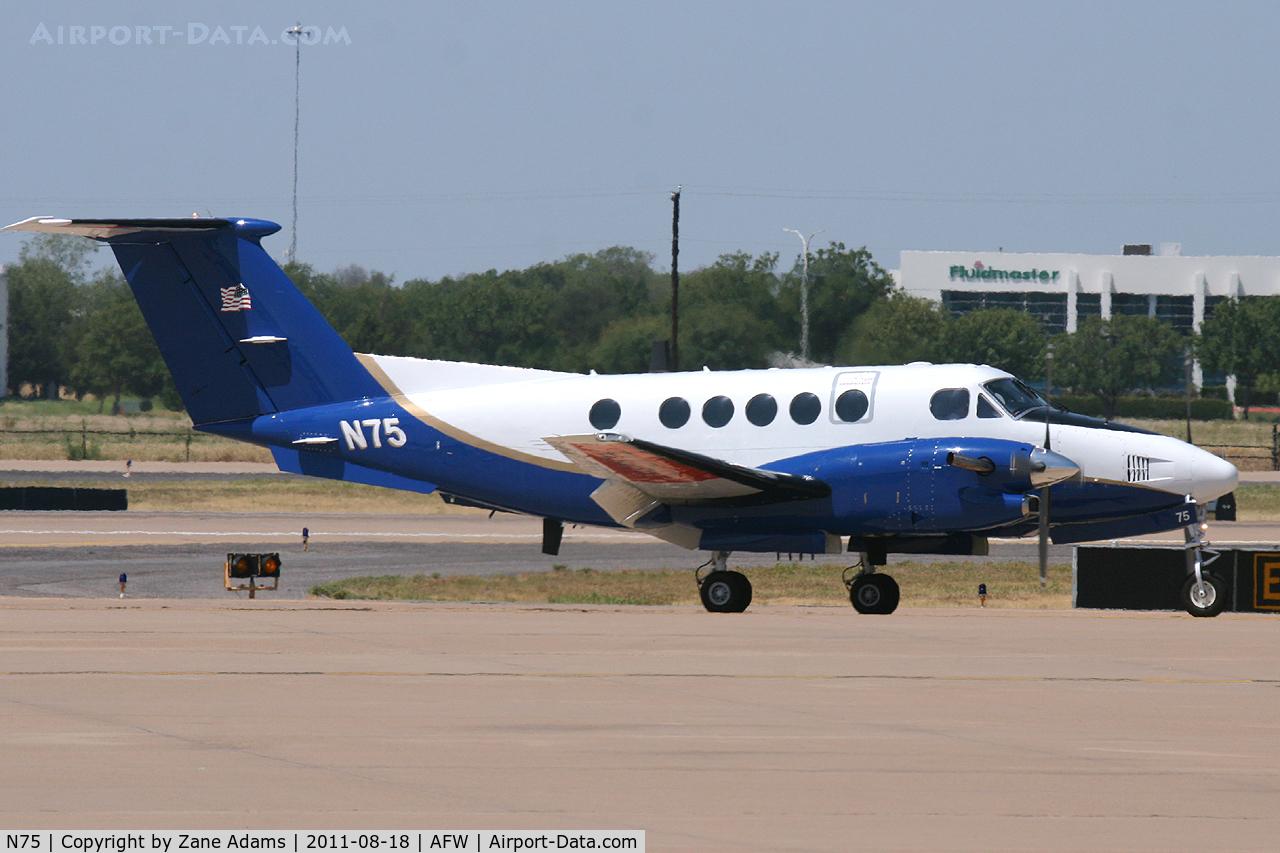 N75, 1988 Beech 300 Super King Air C/N FF-10, At Alliance Airport - Fort Worth, TX