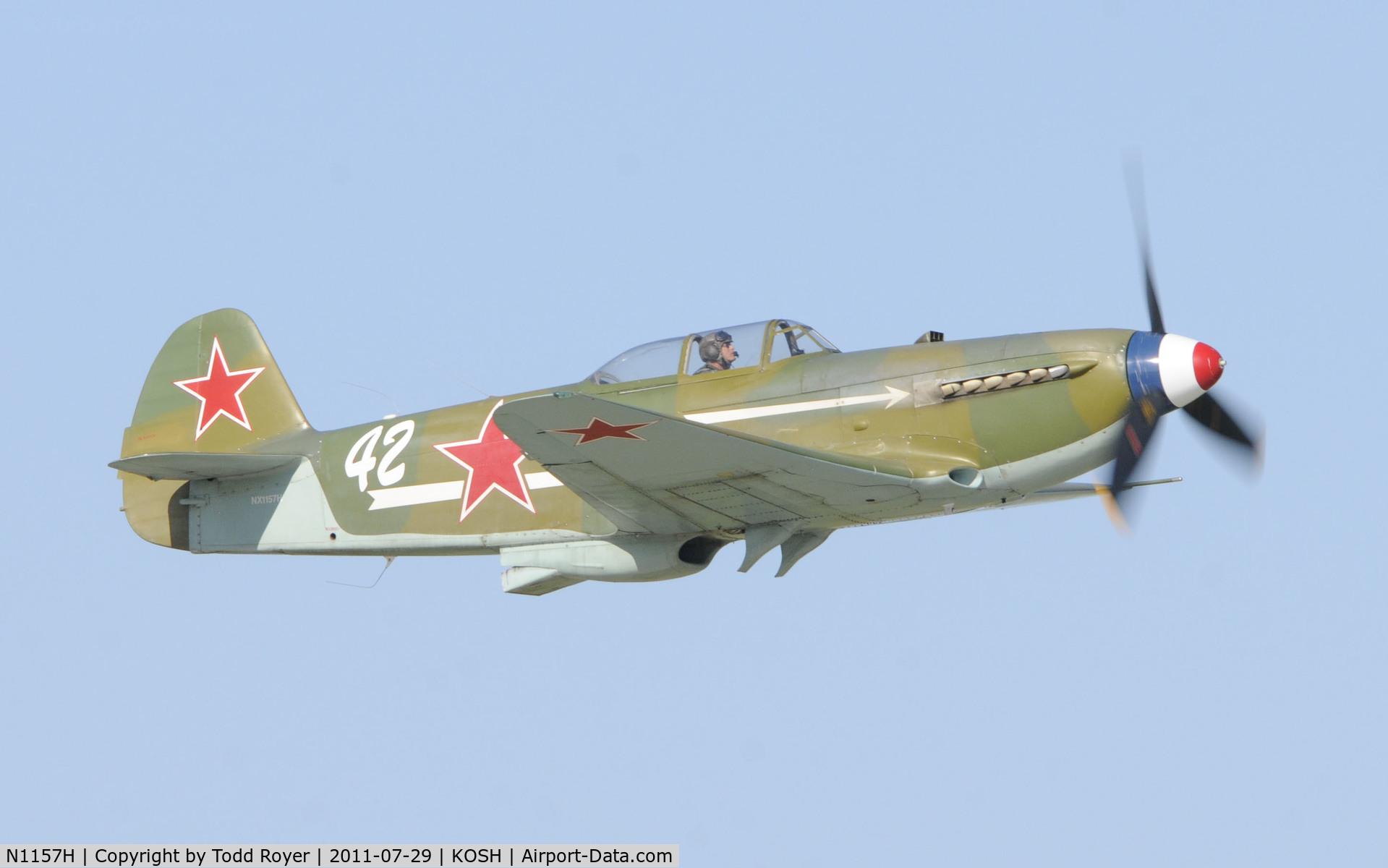 N1157H, 1994 Yakovlev Yak-9U-M C/N 0470402, AIRVENTURE 2011