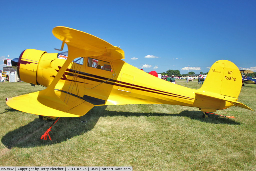 N59832, 1943 Beech D17S Staggerwing C/N 4837, At 2011 Oshkosh