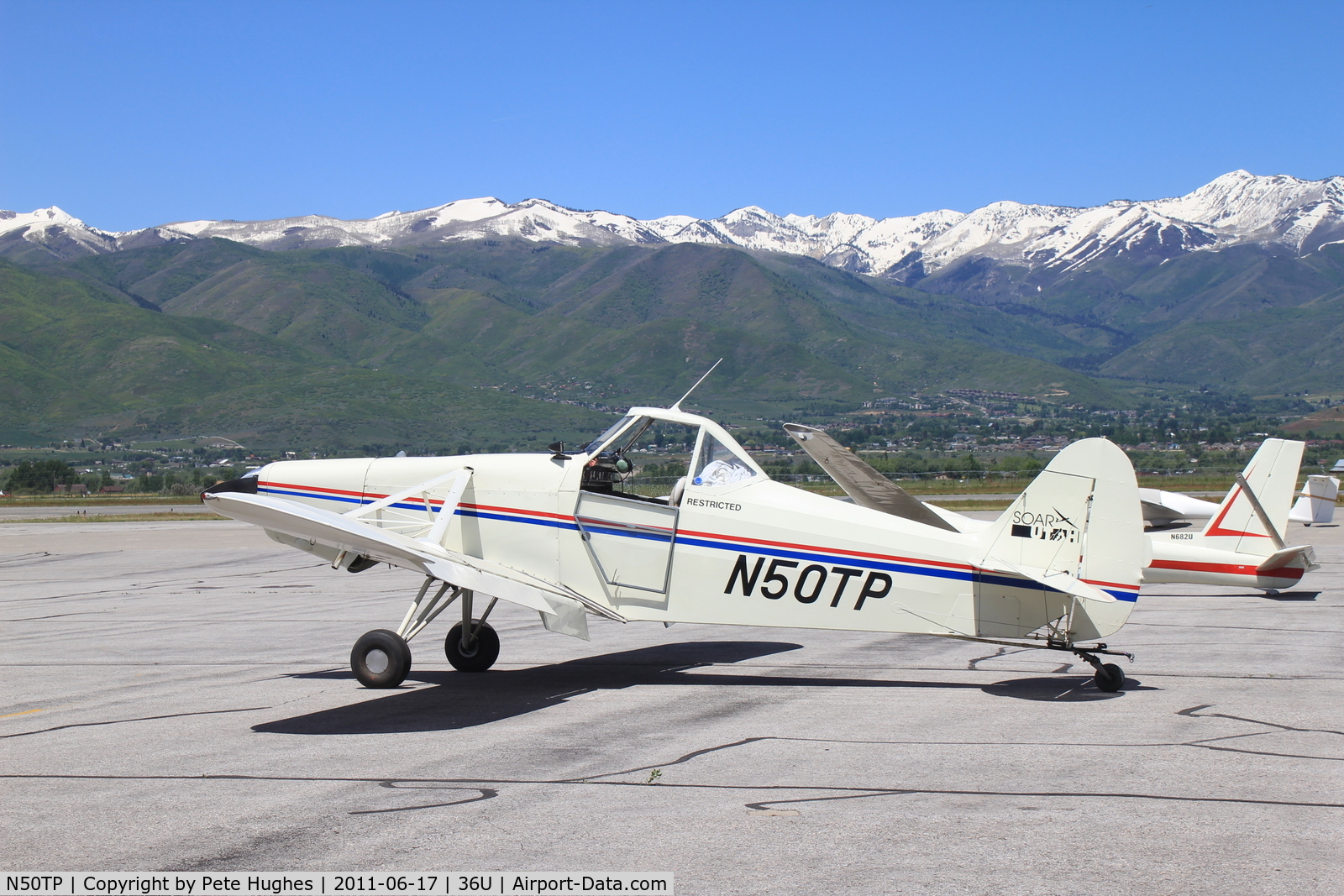 N50TP, Piper PA-25-235 C/N 25-2341, N50TP Pawnee gilder tug ready for action at Heber Valley Utah