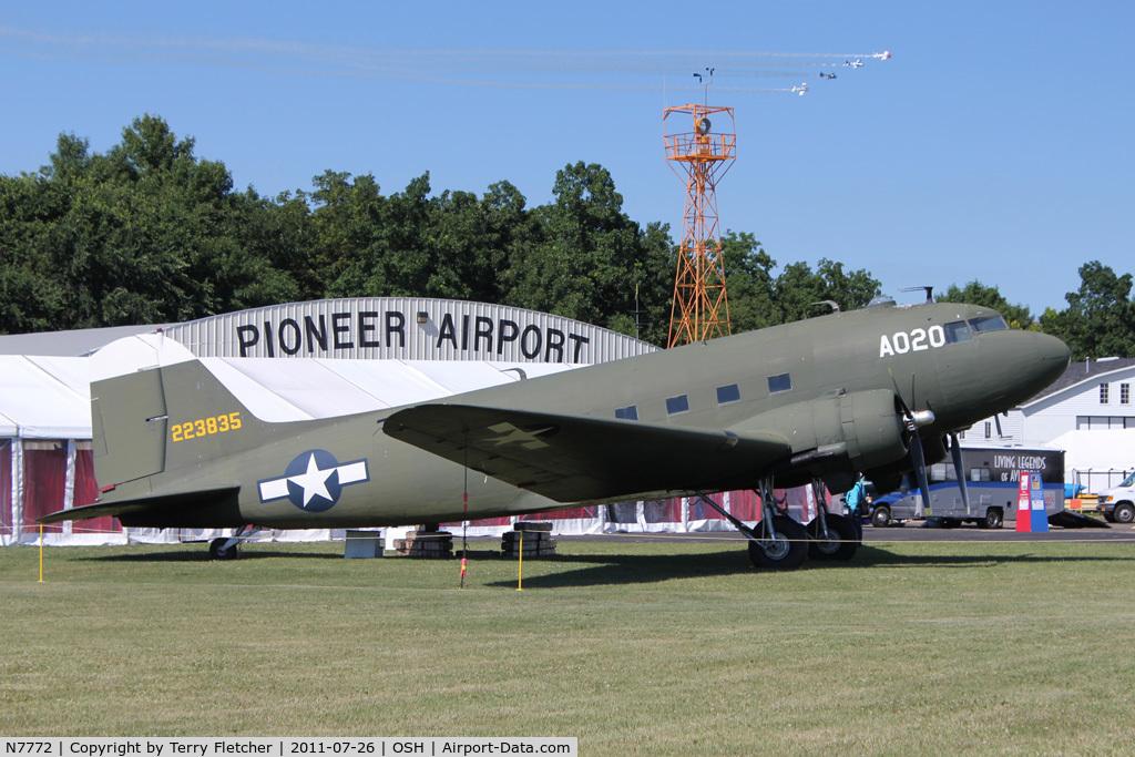 N7772, Douglas DC-3-455 (C-49K) C/N 6338, at 2011 Oshkosh - Museum