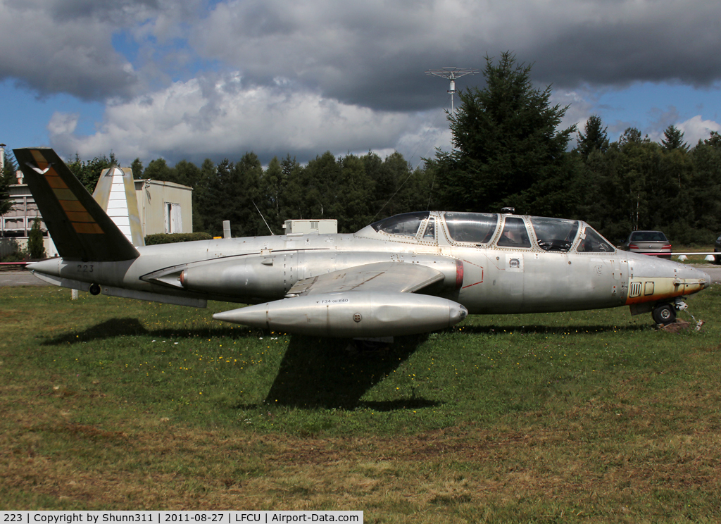 223, 1959 Fouga CM-170R Magister C/N 223, Preserved at the Airfield...