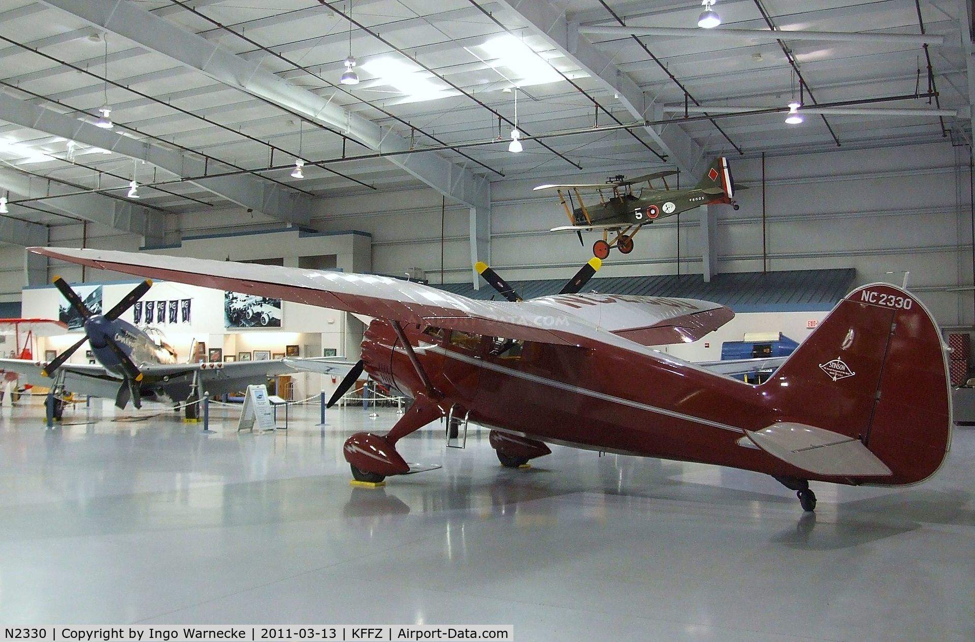 N2330, 1938 Stinson SR-10G Reliant C/N 3-5838, Stinson SR-10G Reliant at the CAF Arizona Wing Museum, Mesa AZ