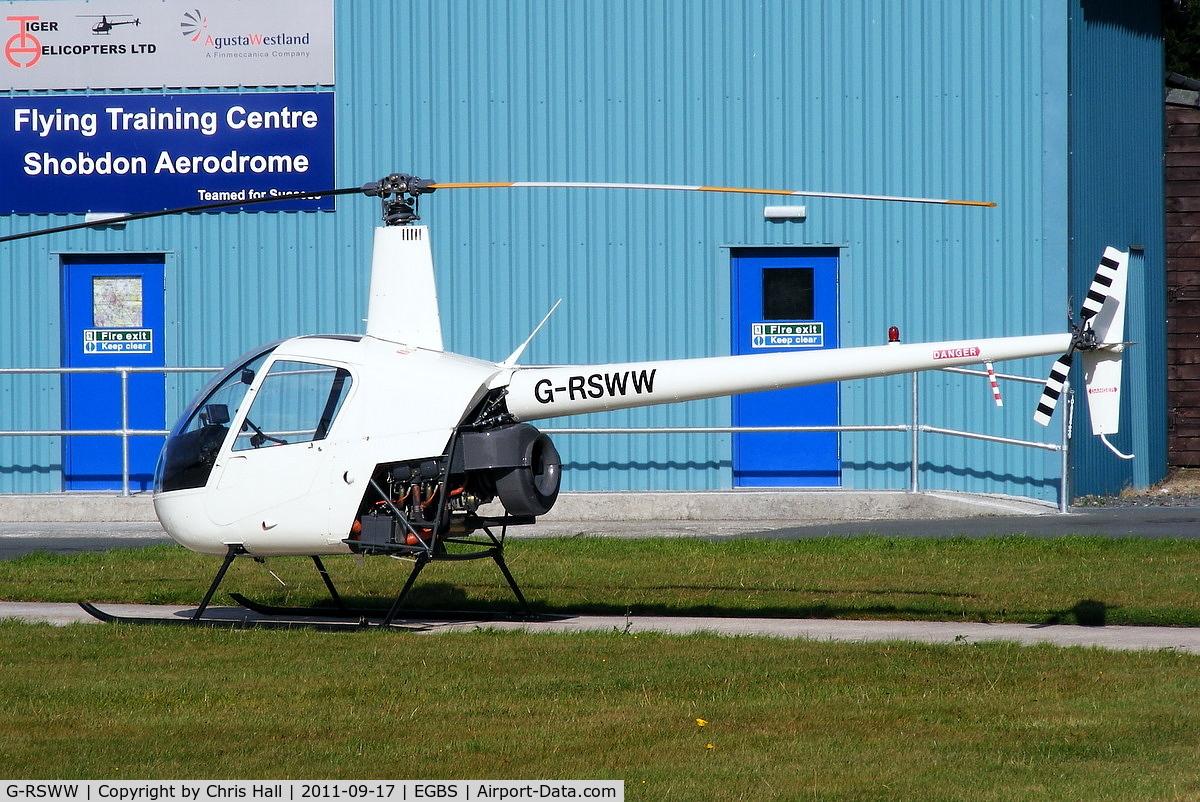 G-RSWW, 1991 Robinson R22 Beta C/N 1775, Tiger Helicopters Ltd