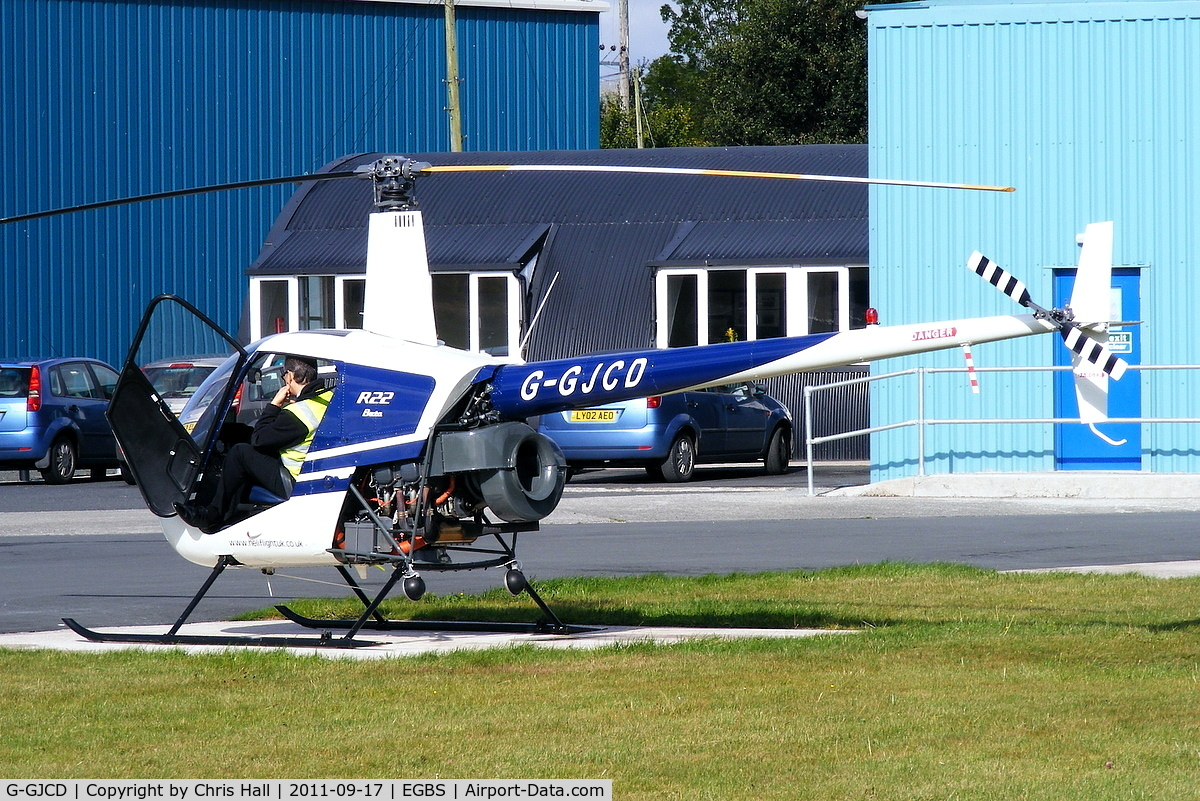 G-GJCD, 1989 Robinson R22 Beta C/N 0966, privately owned