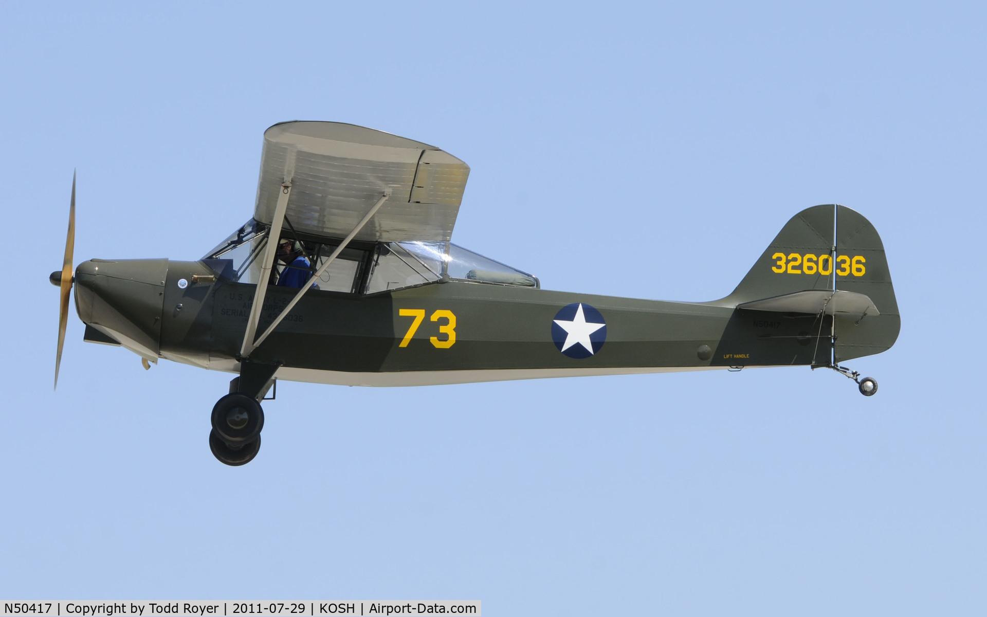 N50417, 1943 Taylorcraft DCO-65 C/N L-5348, AIRVENTURE 2011