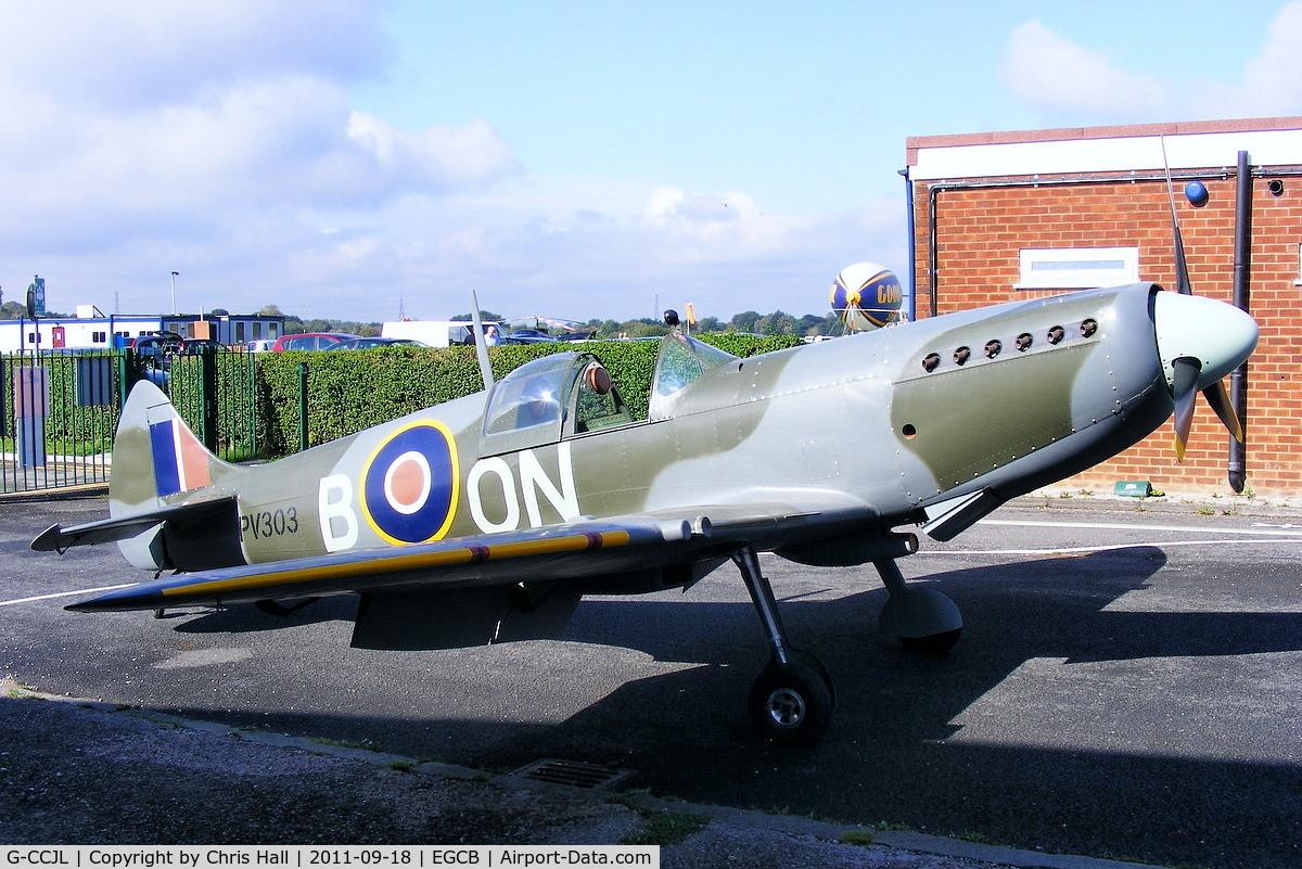 G-CCJL, 2007 Supermarine Aircraft Spitfire Mk.26 C/N PFA 324-14053, replica Spitfire based at Barton