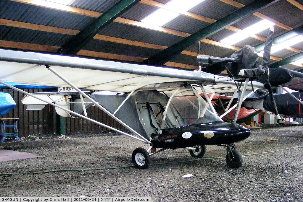 G-MGUN, 1997 Cyclone AX2000 C/N 7284, at Rossall Field, Tarn Farm