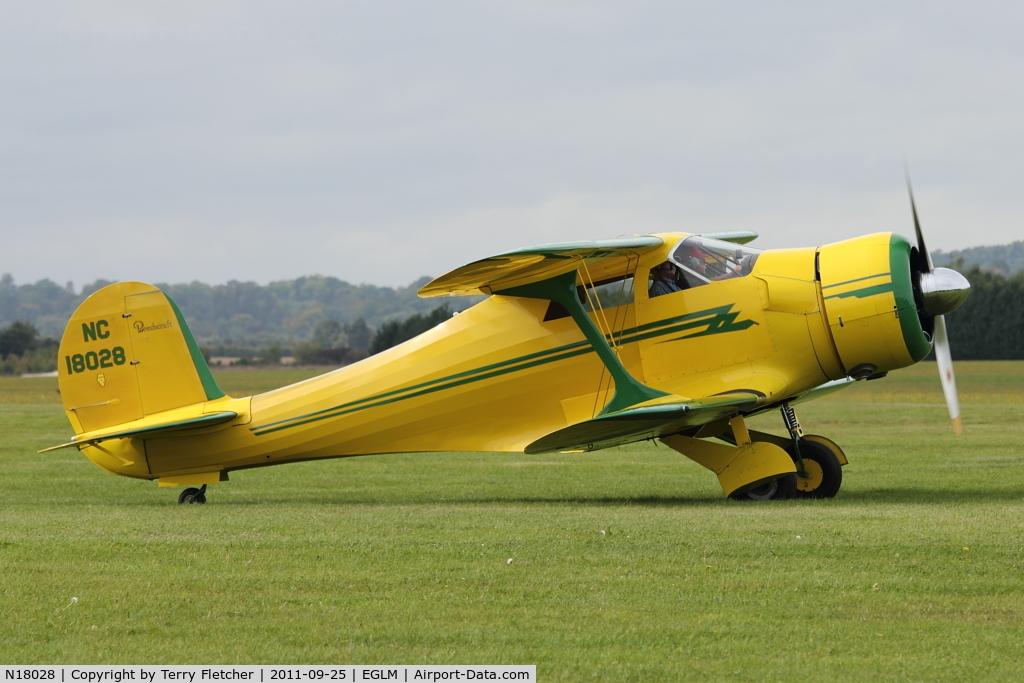 N18028, 1937 Beech D17S Staggerwing C/N 147, Beech D17S, c/n: 147 at White Waltham