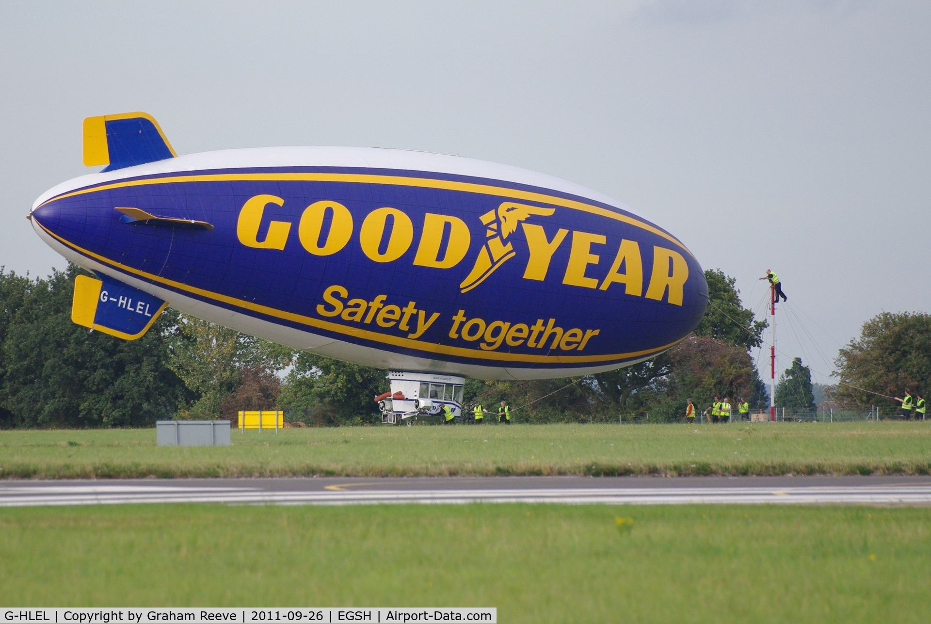 G-HLEL, 1995 American Blimp Corp A-60+ C/N 10, About to be released.