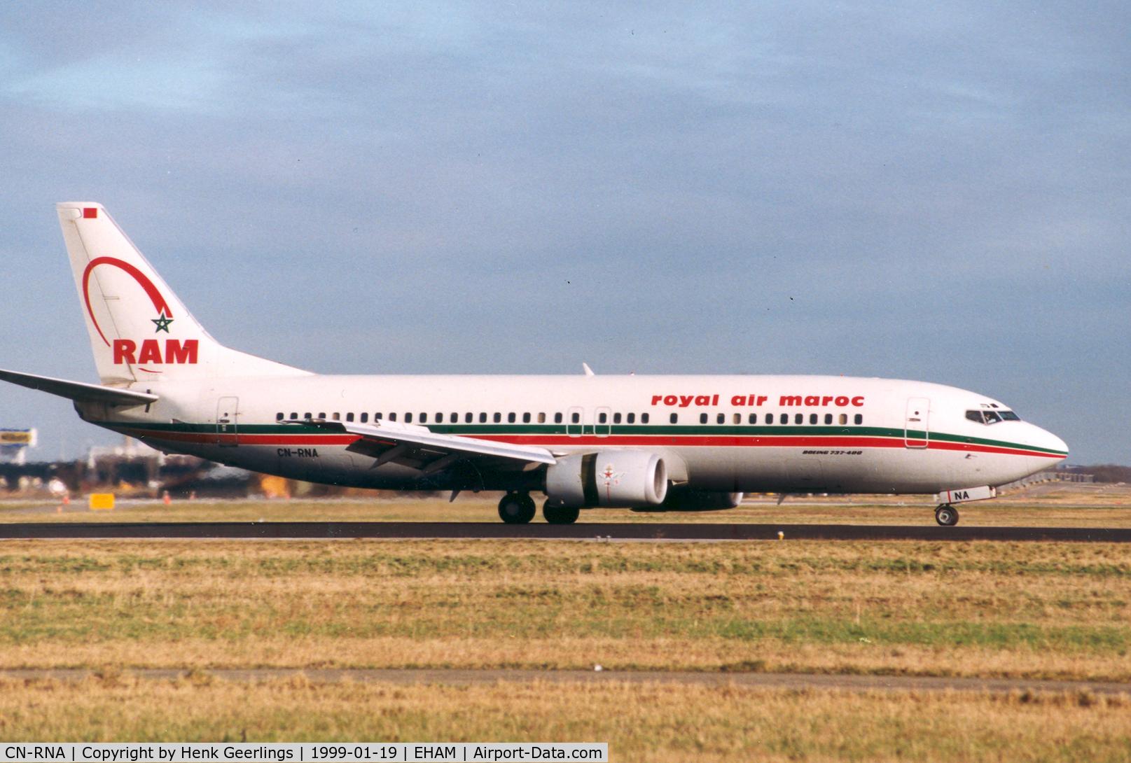 CN-RNA, 1993 Boeing 737-4B6 C/N 26531/2453, royal air maroc - RAM