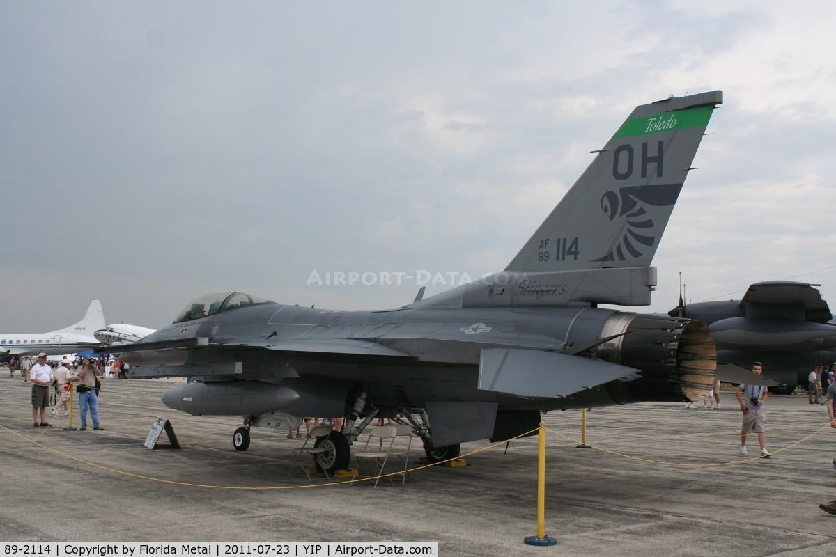 89-2114, 1989 General Dynamics F-16C C/N 1C-267, Ohio National Guard F-16C