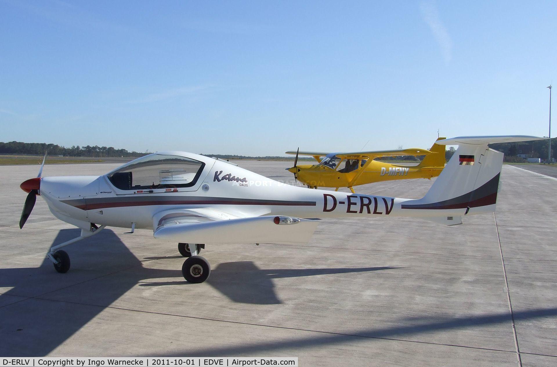 D-ERLV, 1998 Diamond DA-20A-1 Katana C/N 10318, Diamond DA-20-A1 Katana at Braunschweig-Waggum airport