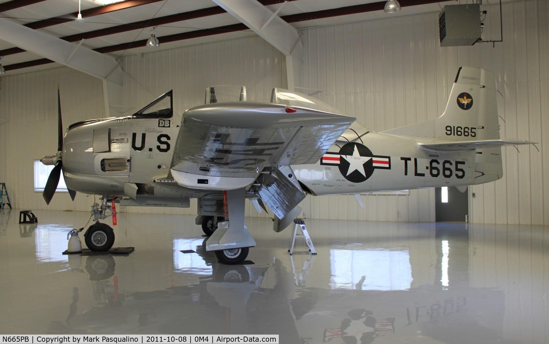 N665PB, 1949 North American T-28A C/N 49-1665, North American T-28A