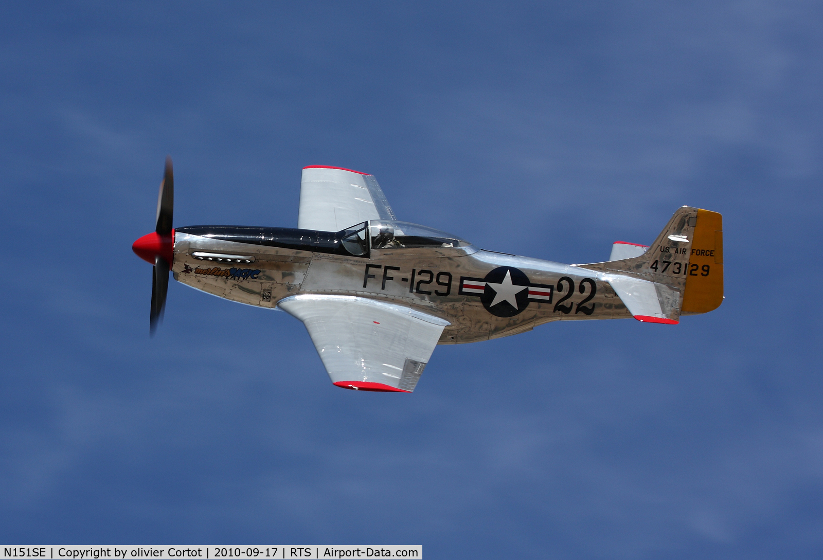 N151SE, 1944 North American P-51D Mustang C/N 122-39588/44-73129, Profil view of merlin magic during the 2010 Reno air races