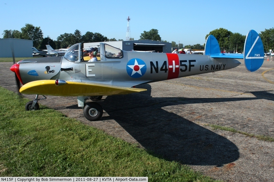 N415F, 1946 Engineering & Research ERCOUPE 415-C C/N 4026, Arriving at the EAA fly-in - Newark, Ohio