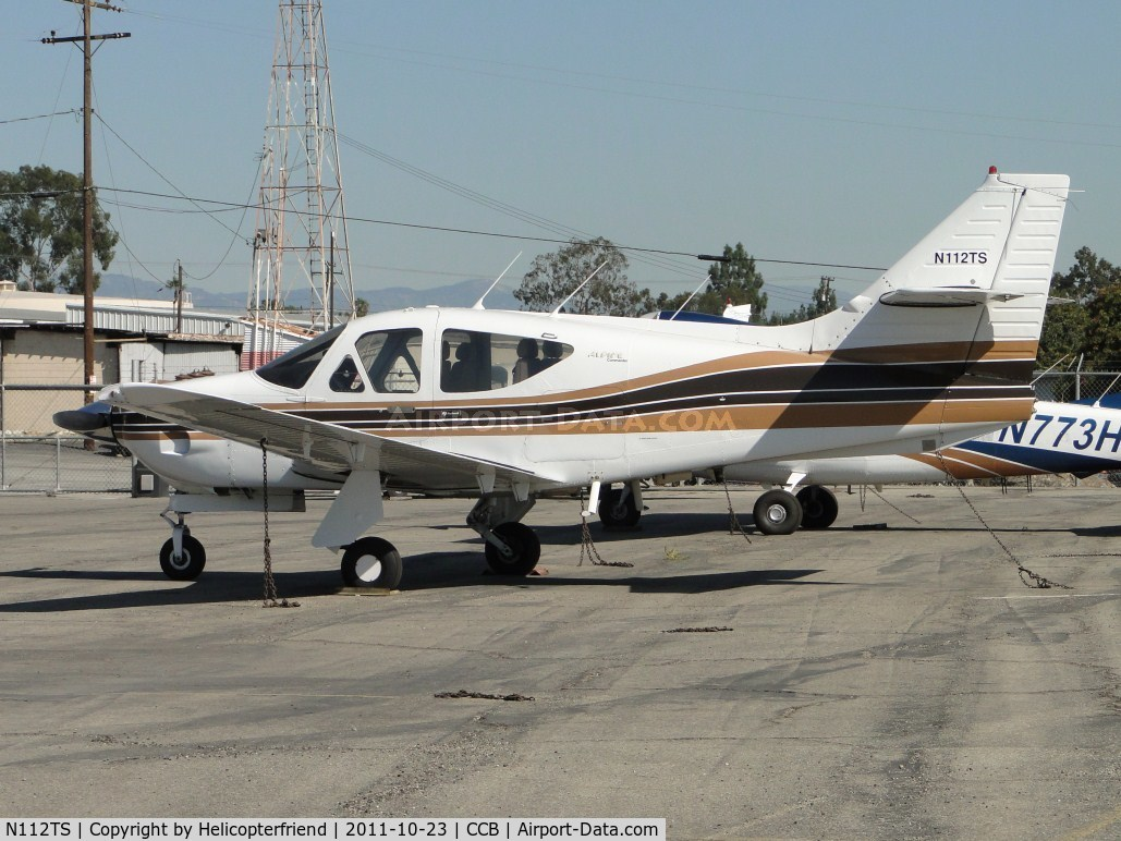 N112TS, 1979 Rockwell International 112TCA C/N 13306, Tied down and parked at Foothill Sales & Service