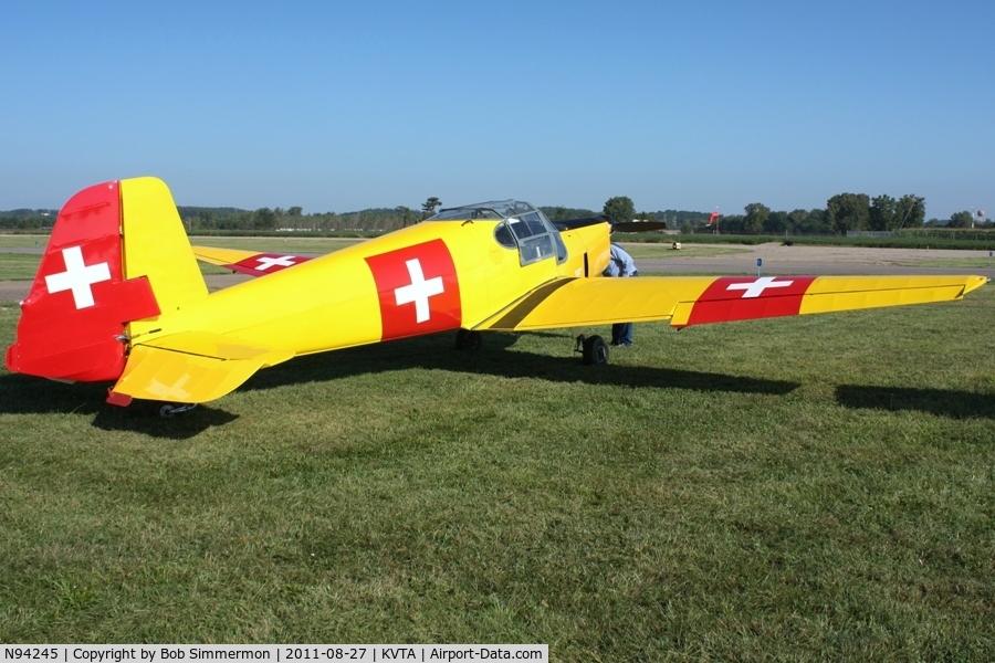 N94245, 1949 Bucker Bu-181 Bestmann C/N 25145, At the EAA fly-in - Newark, Ohio