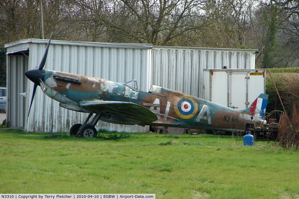 N3310, Supermarine 361Spitfire IX Replica C/N Not found, A replica Spitfire with Serial N3310 at Wellesbourne - made for the film ' Battle of Britain '