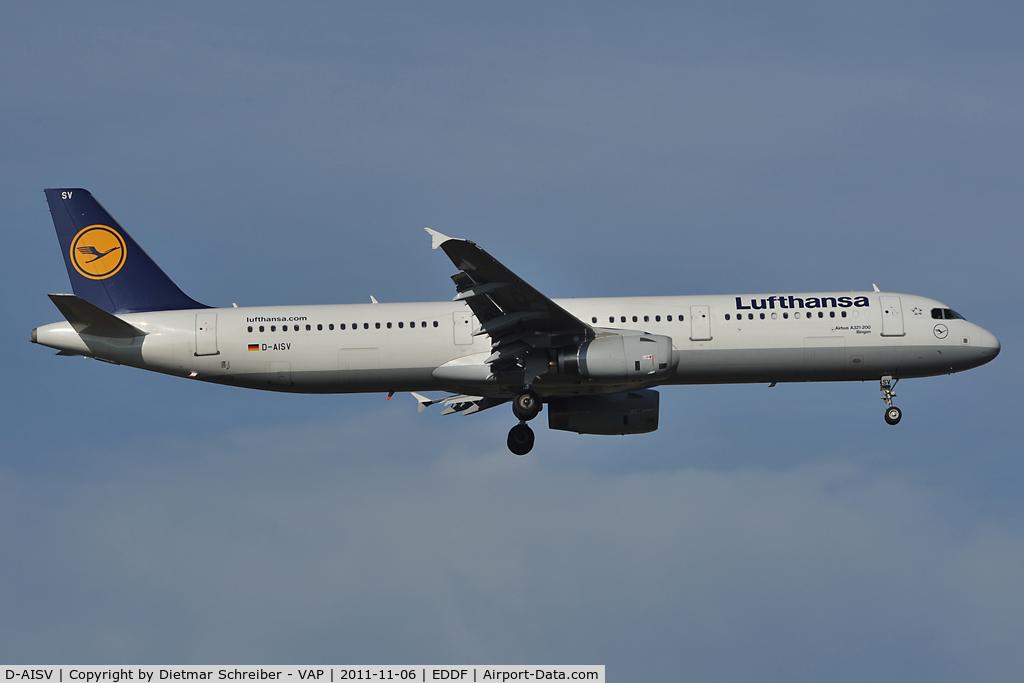 D-AISV, 2009 Airbus A321-231 C/N 4050, Lufthansa Airbus 321