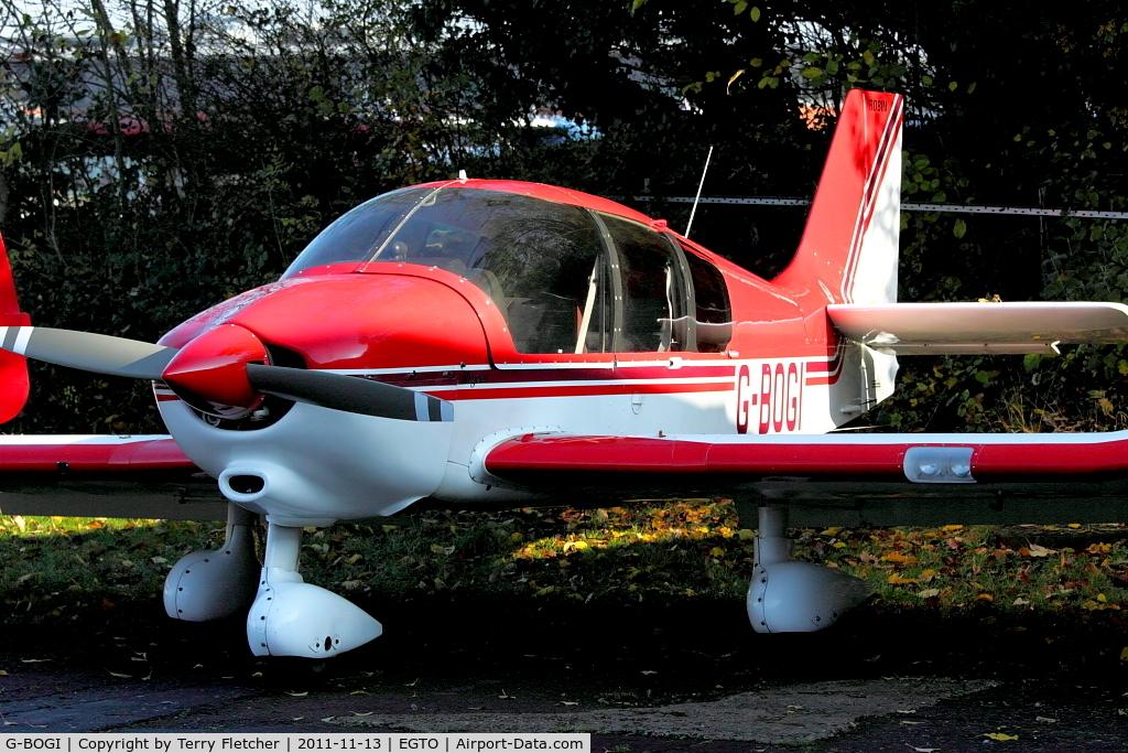 G-BOGI, 1988 Robin DR-400-180 Regent C/N 1821, Robin DR400/180 at Rochester , Kent