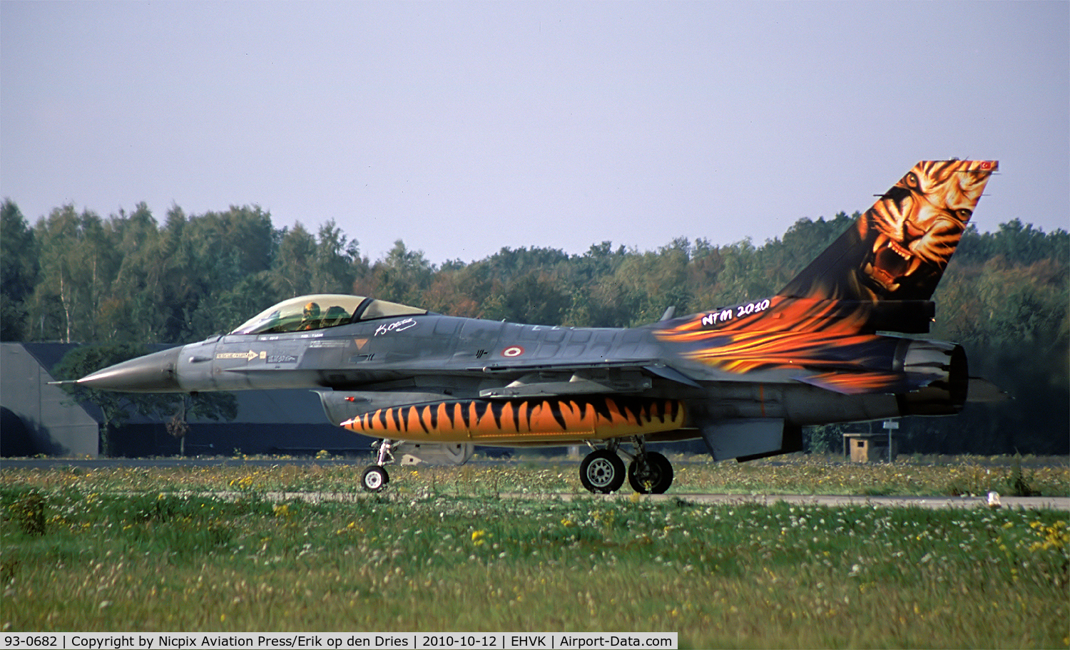 93-0682, TAI (Turkish Aerospace Industries) F-16C Fighting Falcon C/N HC-26, Turkish AF F-16C 93-0682 attended the 49th NTM at Volkel AB, The Netherlands.
