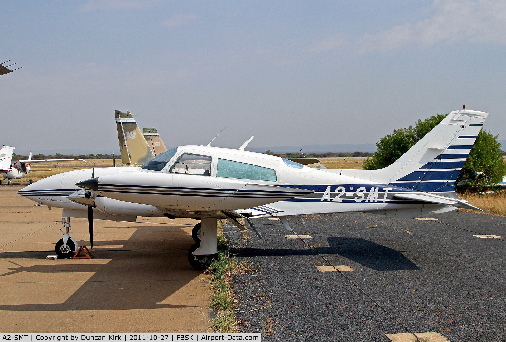 A2-SMT, Cessna 310R C/N 310R1870, Nice 310 at Gaborone