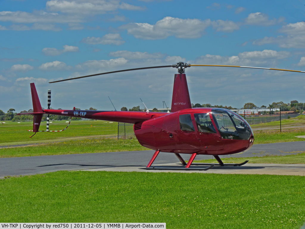 VH-TKP, 2007 Robinson R44 II C/N 11857, Robinson R44 VH-TKP at Moorabbin  -  nice colour!
