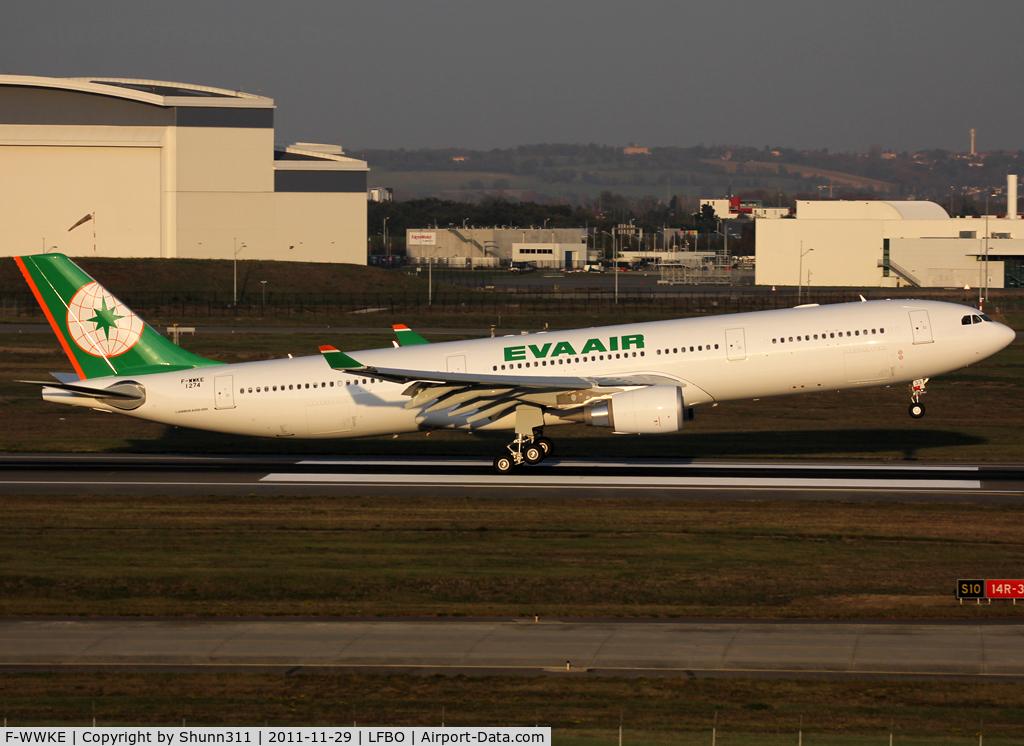 F-WWKE, 2011 Airbus A330-302X C/N 1274, C/n 1274 - To be B-16333 - Arriving from paintshop ;)