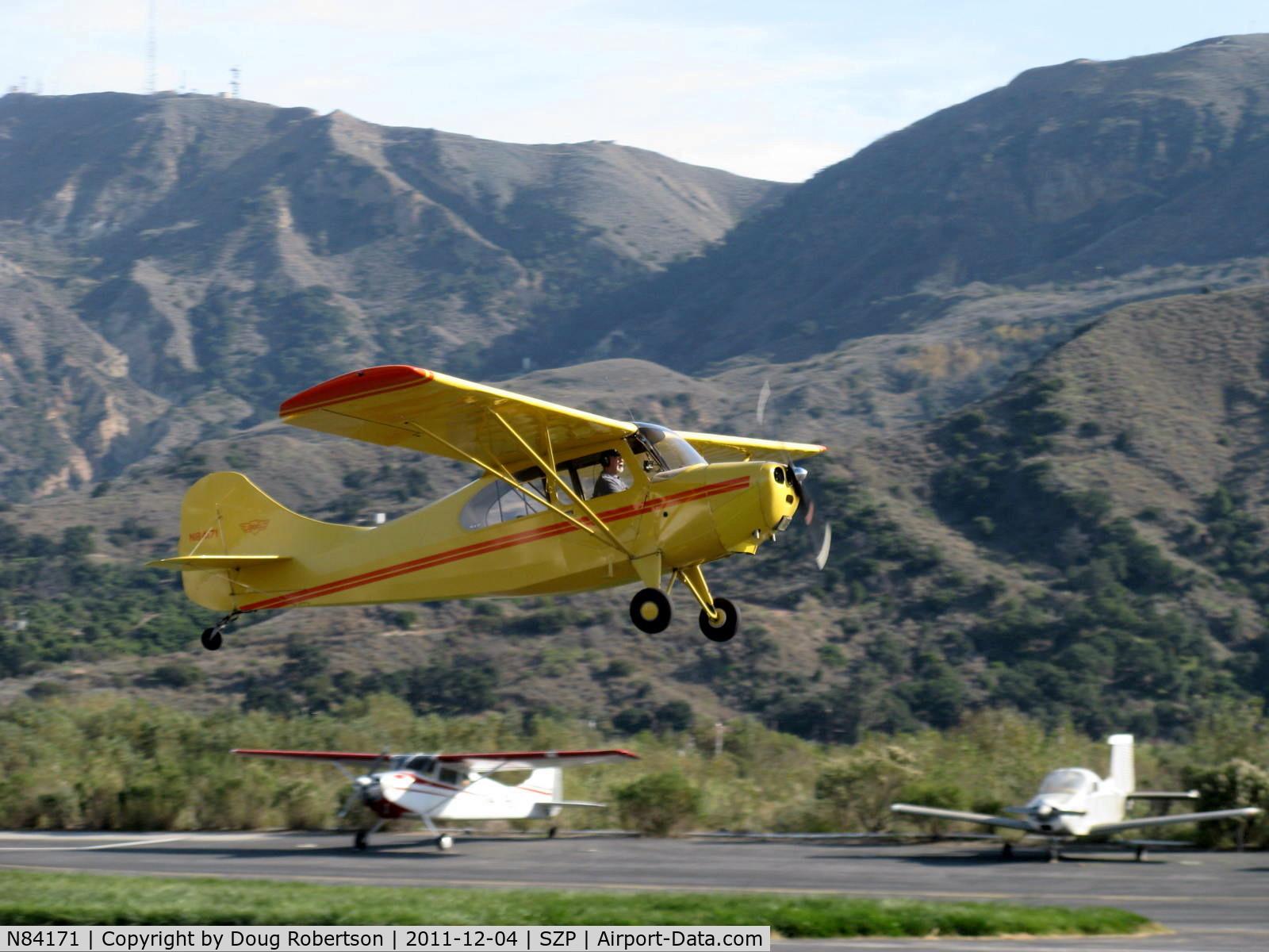 N84171, 1946 Aeronca 7AC Champion C/N 7AC-2859, 1946 Aeronca 7AC CHAMPION, Continental A&C65 65 Hp, takeoff climb Rwy 22