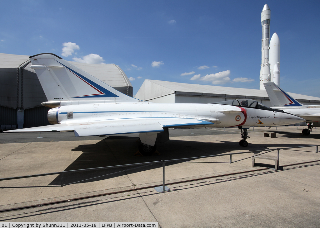 01, 1979 Dassault Mirage 4000 C/N 01, Preserved at Le Bourget Museum...