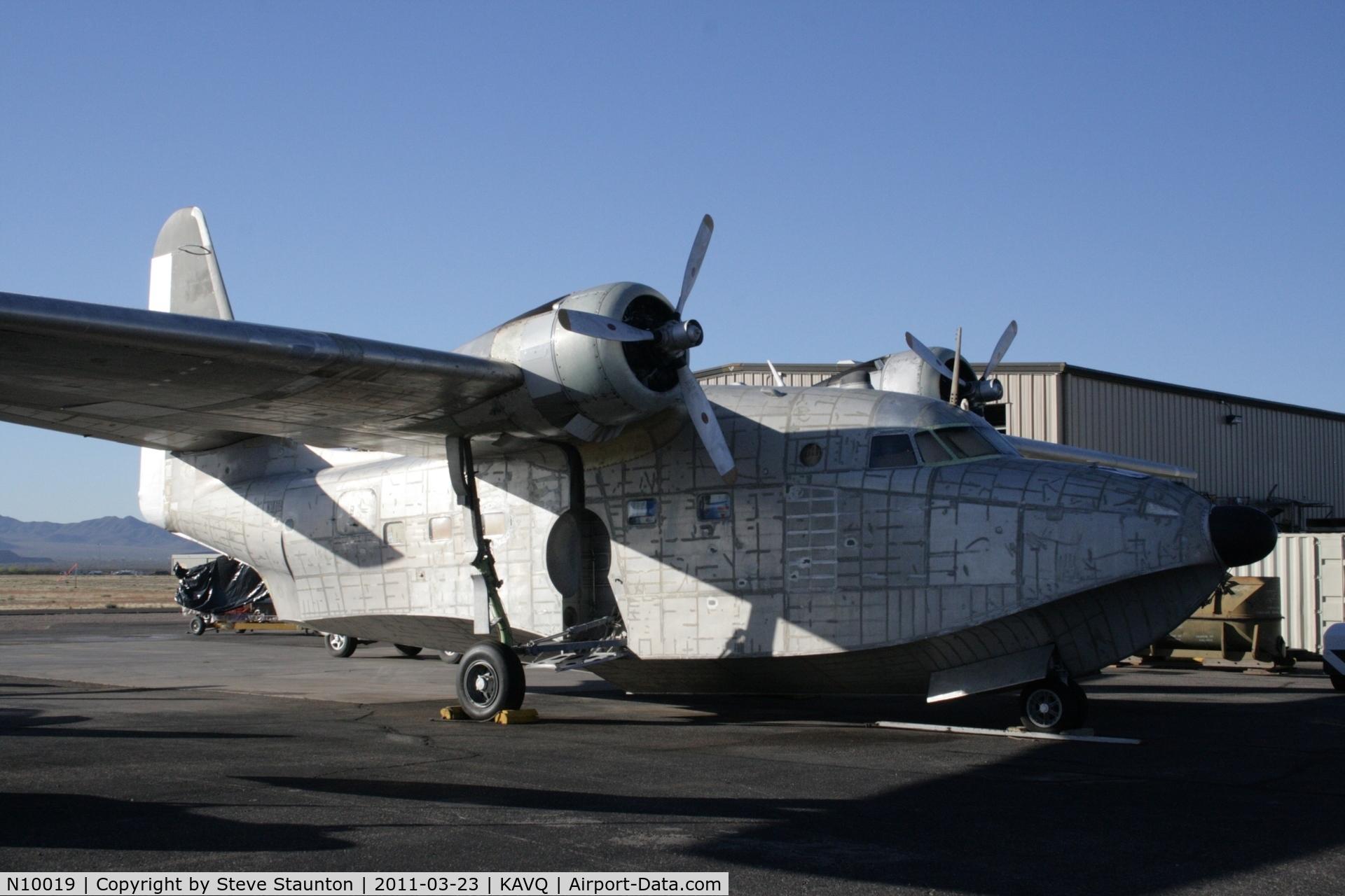 N10019, 1951 Grumman HU-16E Albatross C/N G 92/40B, Taken at Avra Valley Airport, in March 2011 whilst on an Aeroprint Aviation tour