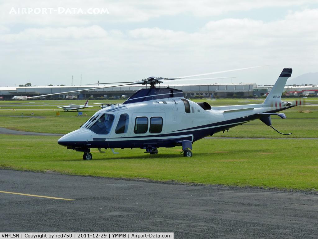VH-LSN, 2010 AgustaWestland AW-109SP GrandNew C/N 22222, Lima Sierra November starting up at Moorabbin