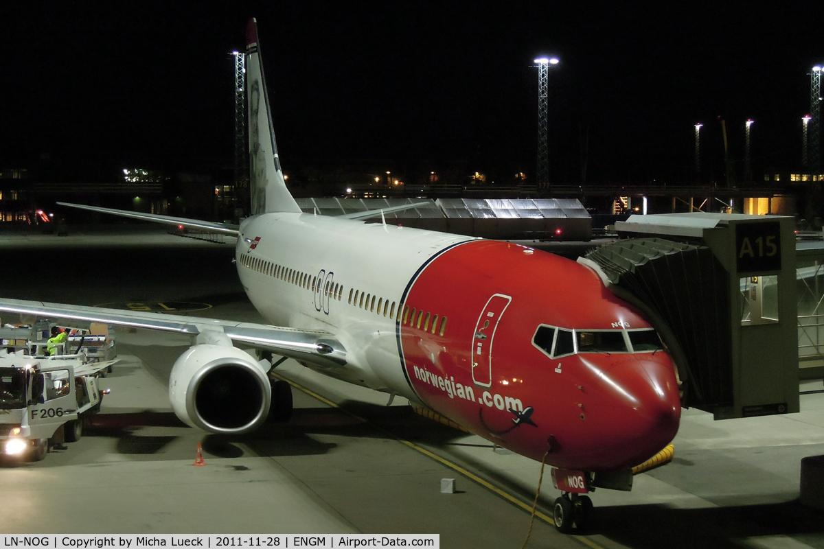 LN-NOG, 2009 Boeing 737-86N C/N 35647, At Oslo