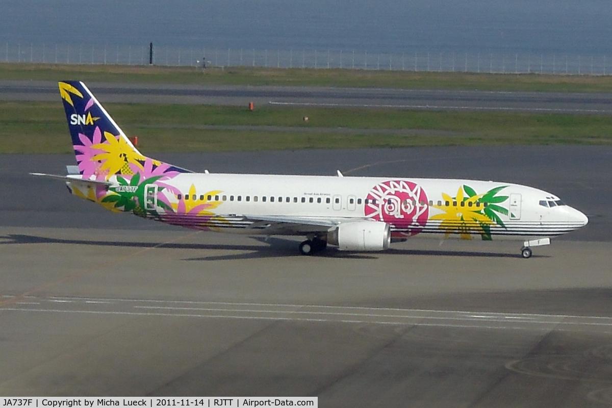 JA737F, 1996 Boeing 737-43Q C/N 28492, At Haneda