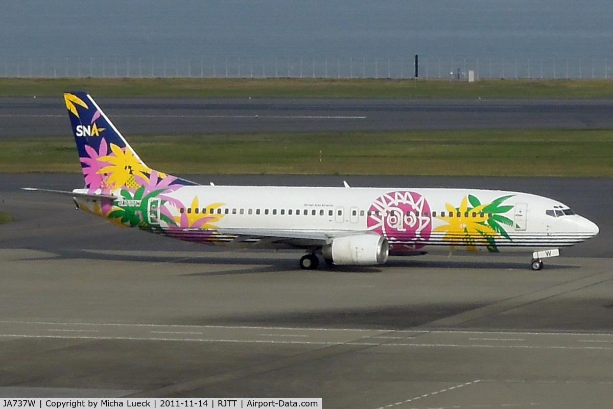 JA737W, 1998 Boeing 737-4M0 C/N 29202, At Haneda