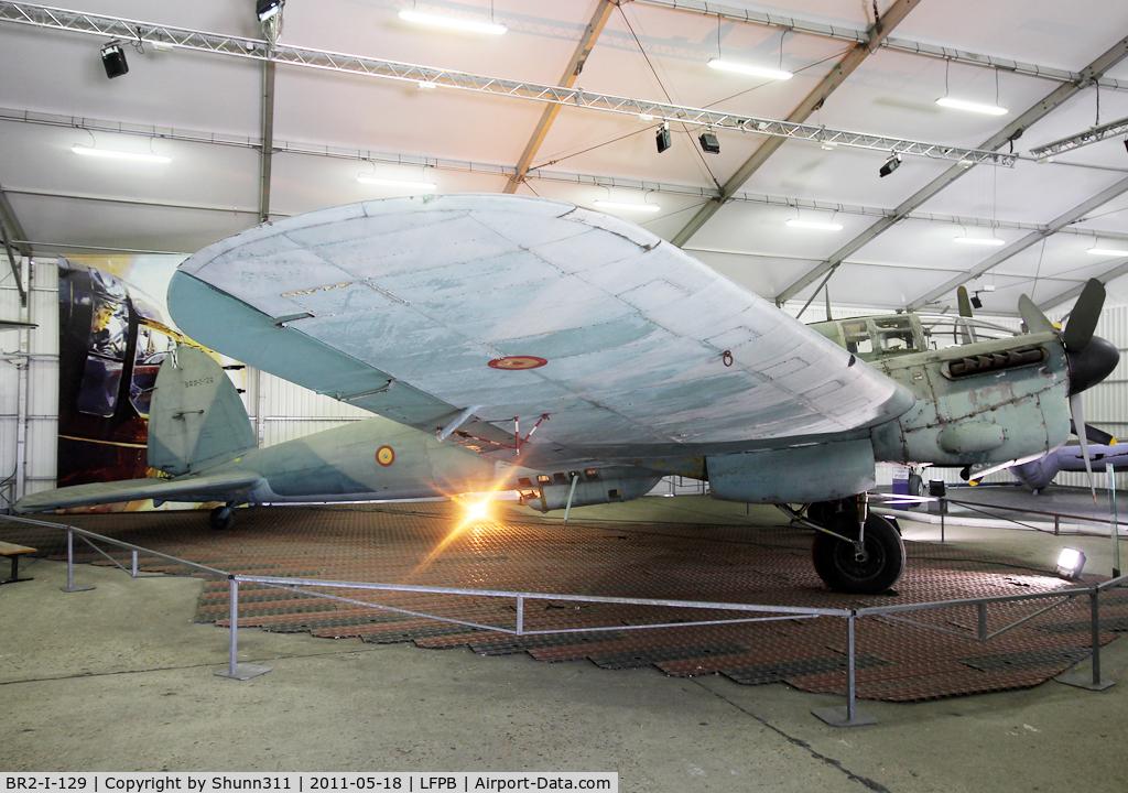 BR2-I-129, CASA 2-111D C/N 123, Inside World War II area at Le Bourget Museum...
