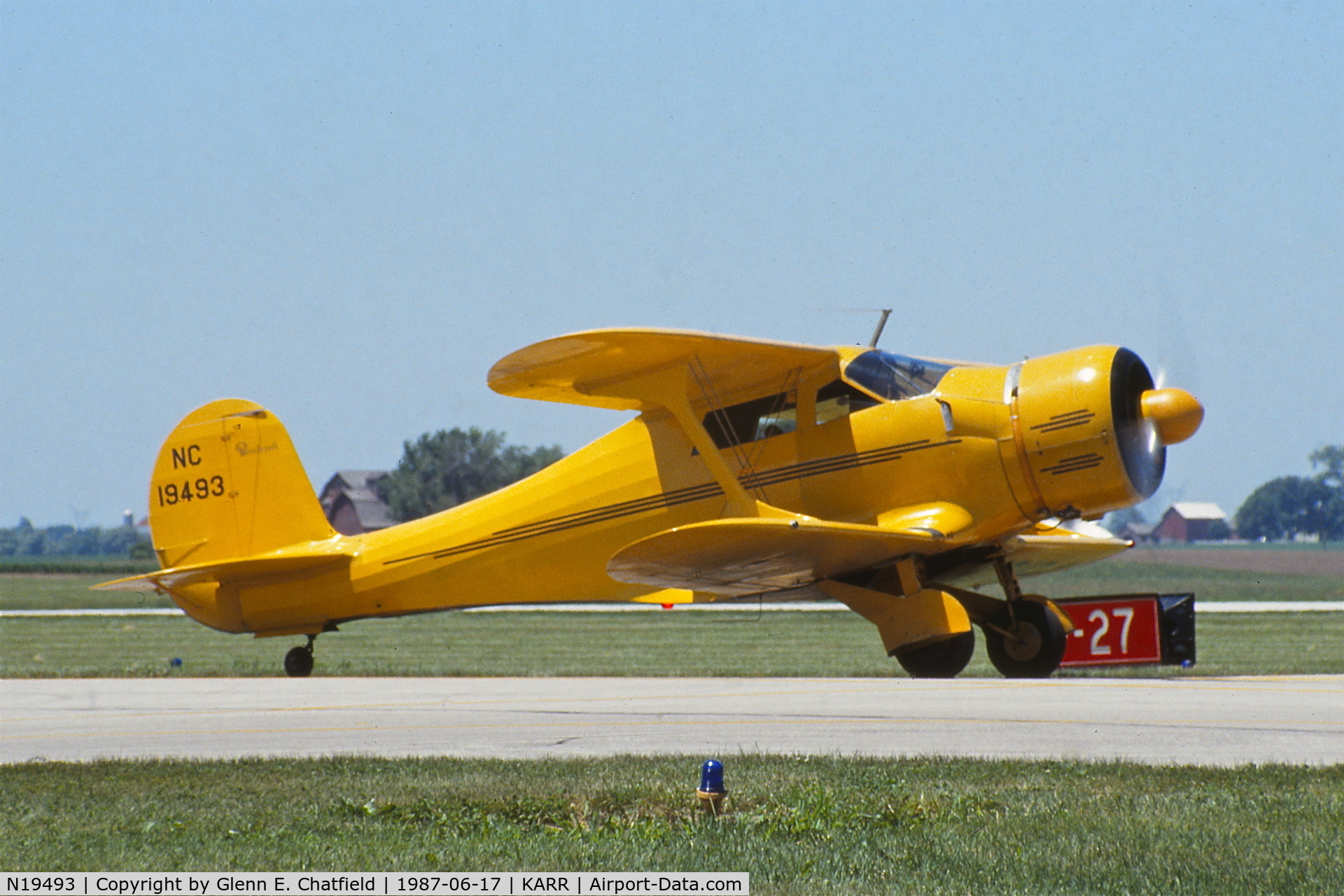 N19493, 1939 Beech D17S Staggerwing C/N 263, Just arriving