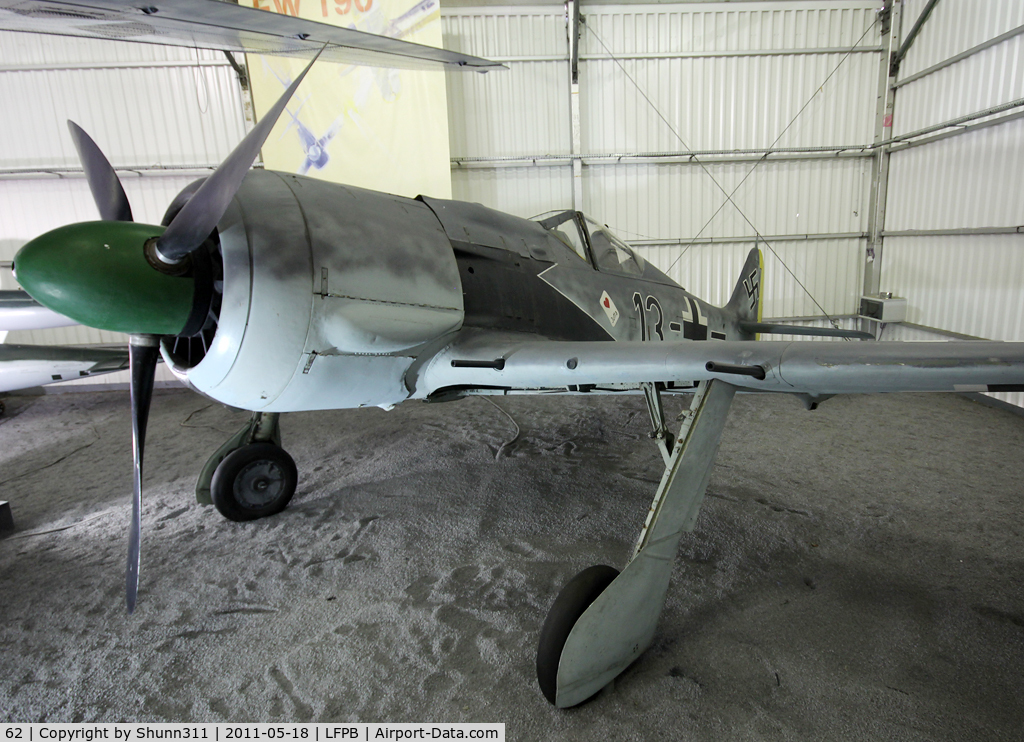 62, SNCAC NC.900 (Focke Wulf Fw.190) C/N 62, Preserved inside Hall 39/45 at Le Bourget Museum...