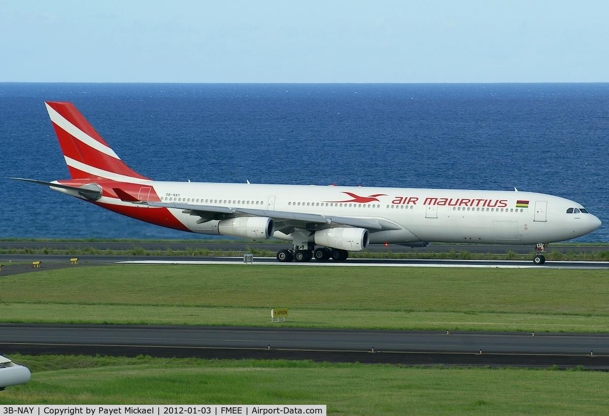 3B-NAY, 1996 Airbus A340-313 C/N 152, Landing rwy 14