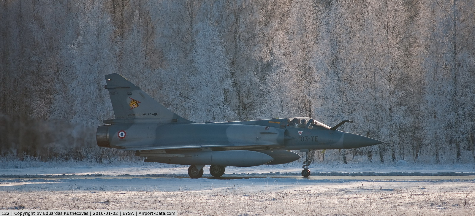 122, Dassault Mirage 2000C C/N 405, Taxi for parking