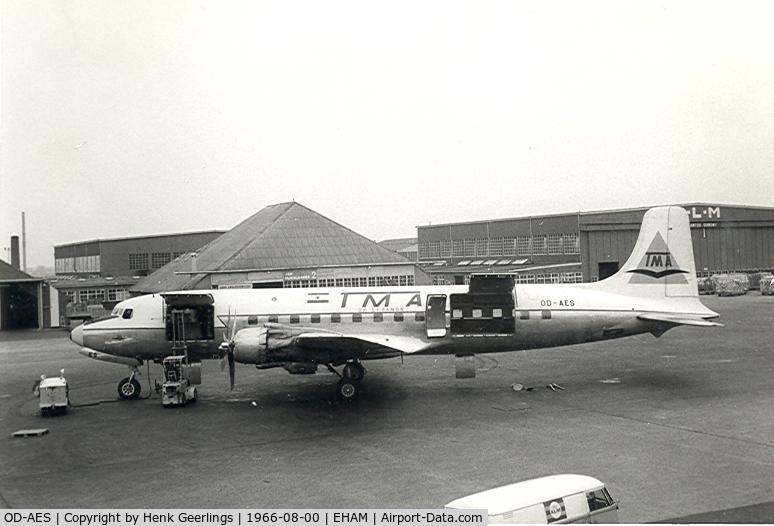OD-AES, 1953 Douglas DC-6B C/N 44064, TMA - Trans Mediterranean Airways